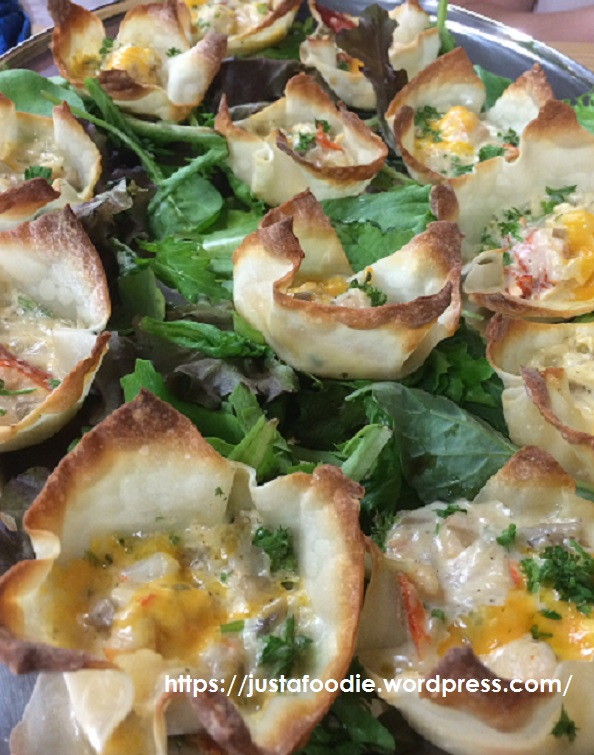 Chef Abby Noels Seafood Cups for a catering we did this week, they were awesome!!!